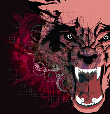 Illustration pour Loup sauvage - image libre de droit