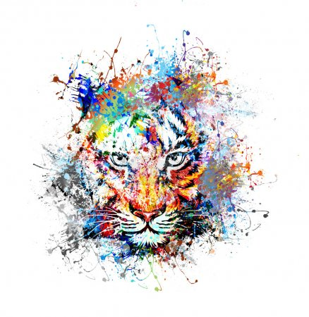Illustration for Abstract tiger - Royalty Free Image