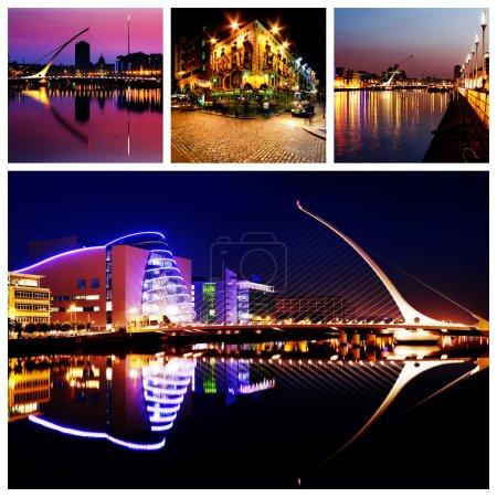 Dublin City Center at Night