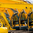 Multiple Excavator Cabs all in a row on Constructi...