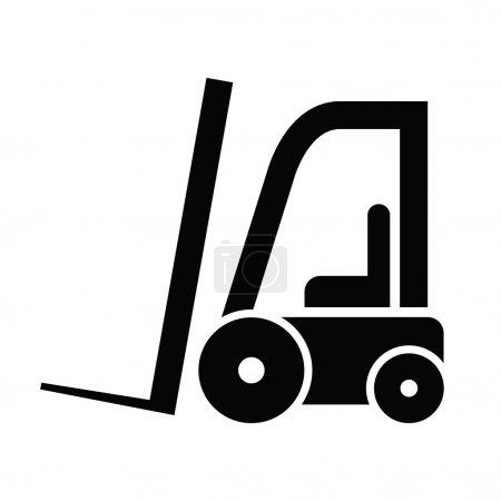 Ilustración de El icono de carretillas elevadoras modernas - Imagen libre de derechos