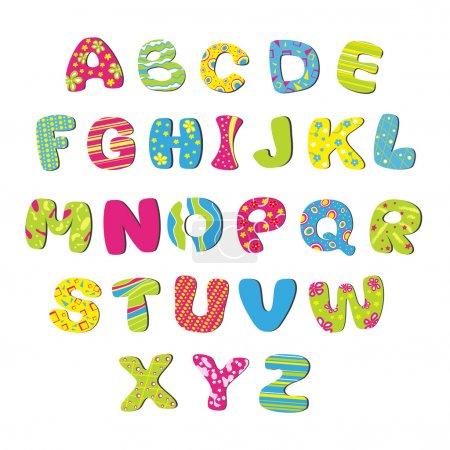 Illustration for Векторный яркий детский алфавит - Royalty Free Image