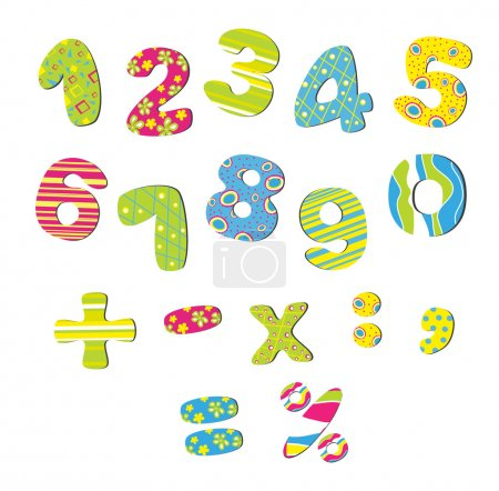 Illustration for Colorful numbers for children - Royalty Free Image
