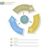 Abstraktní infografiky prvky šablony s šipkami