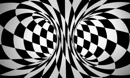 Photo pour Illustration 3D du fond abstrait noir et blanc - image libre de droit