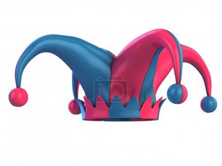 3d illustration of jester hat...