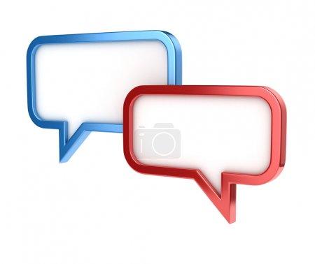 Photo pour Bulles - conversation chat SMS icône 3d illustration - image libre de droit