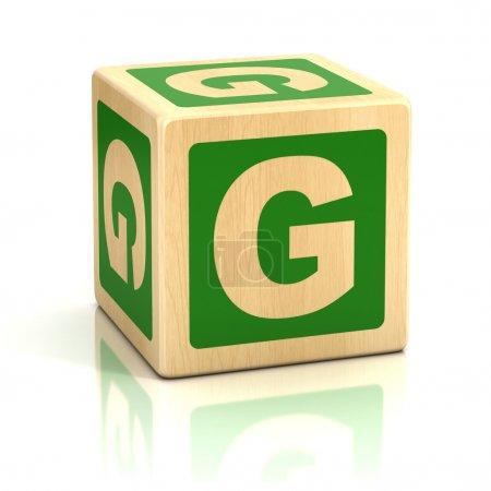 Letter g alphabet cubes font