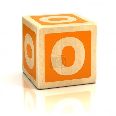 Photo pour Lettre o alphabet cubes police illustration 3d - image libre de droit
