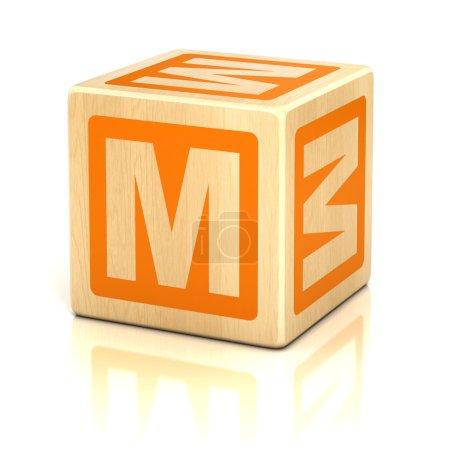 Letter m alphabet cubes font