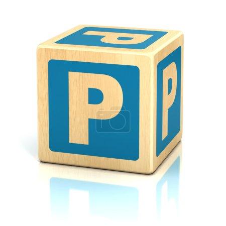 Letter p alphabet cubes font