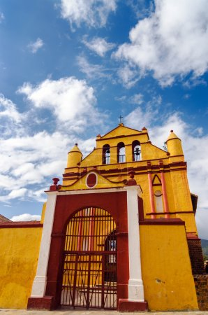 Old Yellow Colonial Church