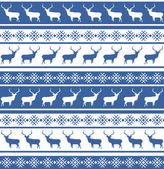 Karácsonyi szarvas varrat nélküli mintát. EPS-8