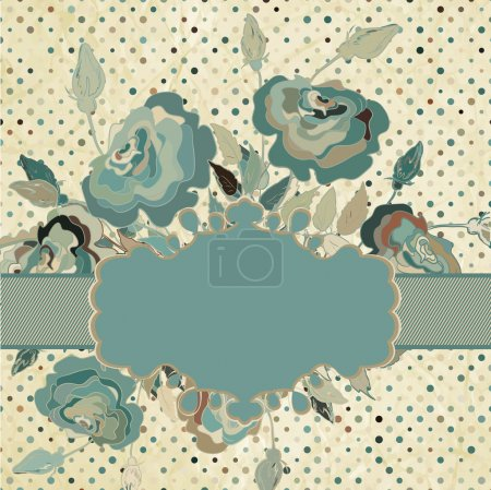 Illustration for Vintage border set with rose. And also includes EPS 8 vector - Royalty Free Image