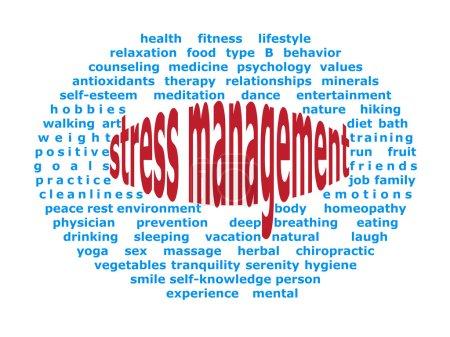 Illustration for Background elliptical illustration of stress management - Royalty Free Image