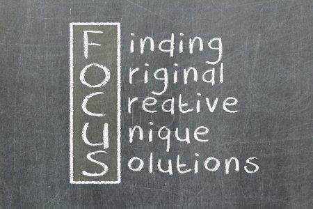 Photo pour Acronyme de recherche, original, créatif, unique, solutions - image libre de droit