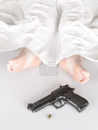 Woman murdered or committed suicide