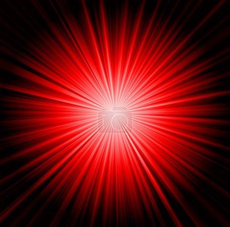 Photo pour Fond de Starburst, rayons de soleil va dans toutes les directions, rouge et noir - image libre de droit