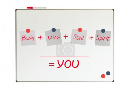 You, body, mind, soul, spirit, whiteboard
