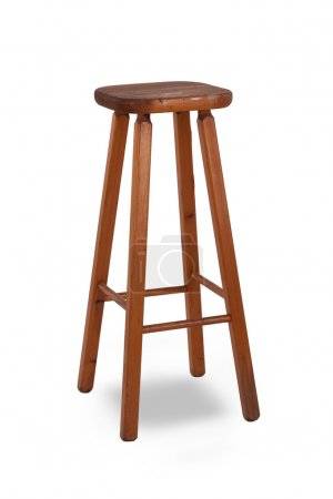 Old stool isolated