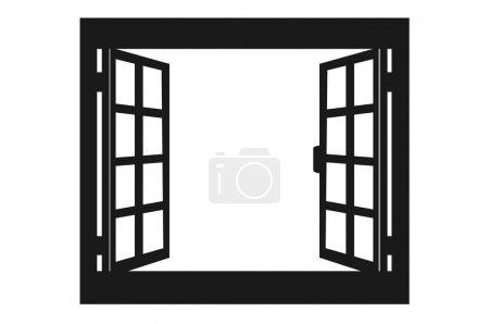 Illustration for Open window vector illustration - Royalty Free Image