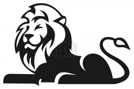 Illustration for Animal lion vector art illustration - Royalty Free Image