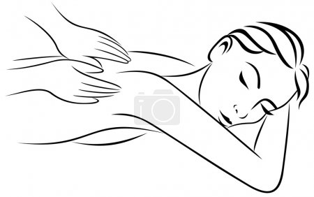Illustration for Relaxation massage body care vector illustration - Royalty Free Image