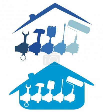 Photo pour Conception pour l'entreprise de réparation à domicile - image libre de droit