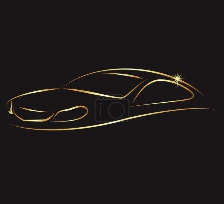 Illustration pour Concevoir une voiture d'affaires, de location et de service - image libre de droit