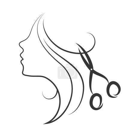 Emblem of beauty salon