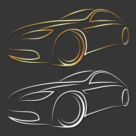 Illustration pour Conception de voiture pour les entreprises, vecteur - image libre de droit