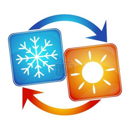 Illustration pour Climatisation dans la maison, le design des affaires - image libre de droit
