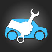 Design for auto repair symbol for business