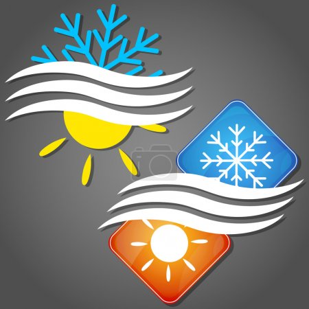 Illustration for Design symbol for air conditioning business - Royalty Free Image