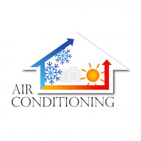 Illustration for Design for home air conditioner, vector - Royalty Free Image