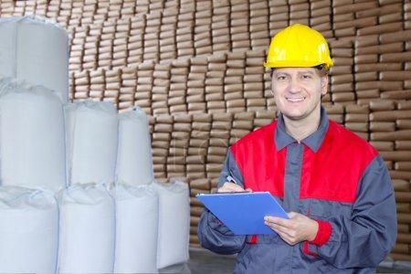 Happy Worker in Warehouse