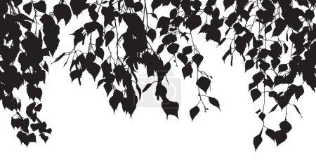 Illustration pour Silhouette vectorielle des feuilles - image libre de droit