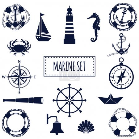 Flat marine set