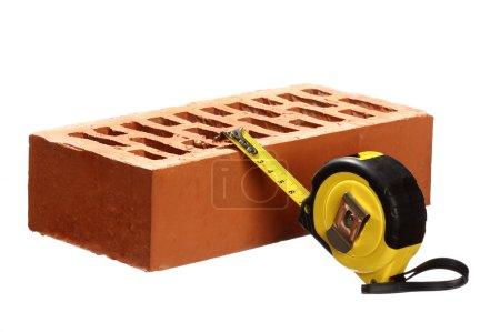 Brick and tape measure