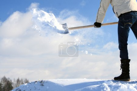 Manual snow removal