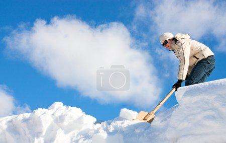 Manual snow removal