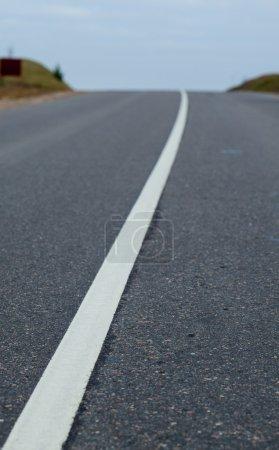 Lane on asphalt road