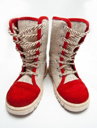 Child's flax boots