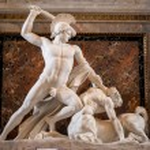 Theseus Defeats the Centaur, sculpture in Kunsthis...