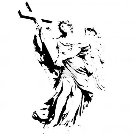 Angel figure with a cross