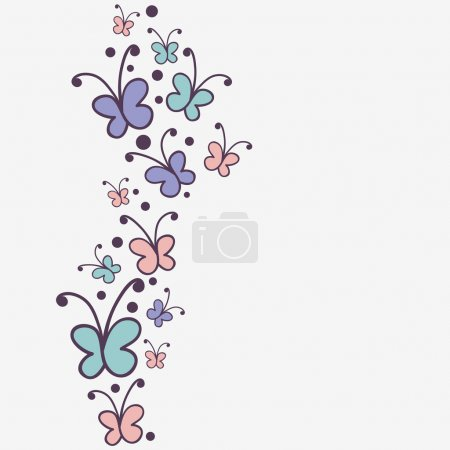 Background design with butterflies