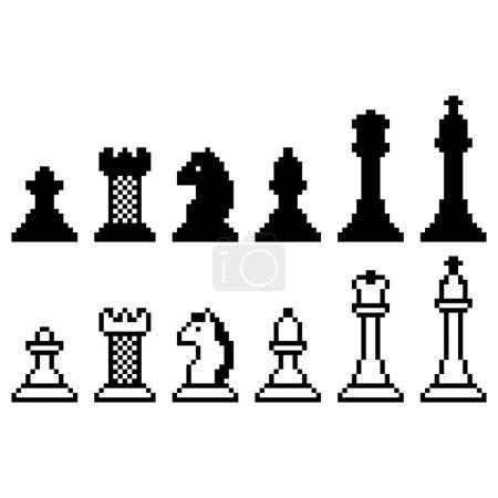 Pixel chess set
