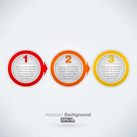 Illustration pour Vector illustration de flèches avec des bulles de texte - image libre de droit