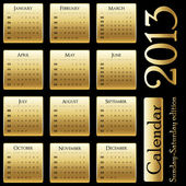 Simple calendar on dark background