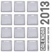 Simple calendar on light background